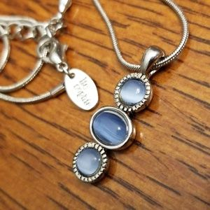 Lia Sophia 3 Stone Necklace